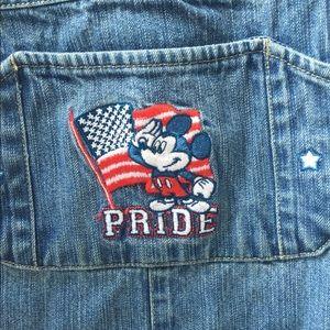 Disney Shorts - Vintage Disney Mickey Mouse America Short Overalls